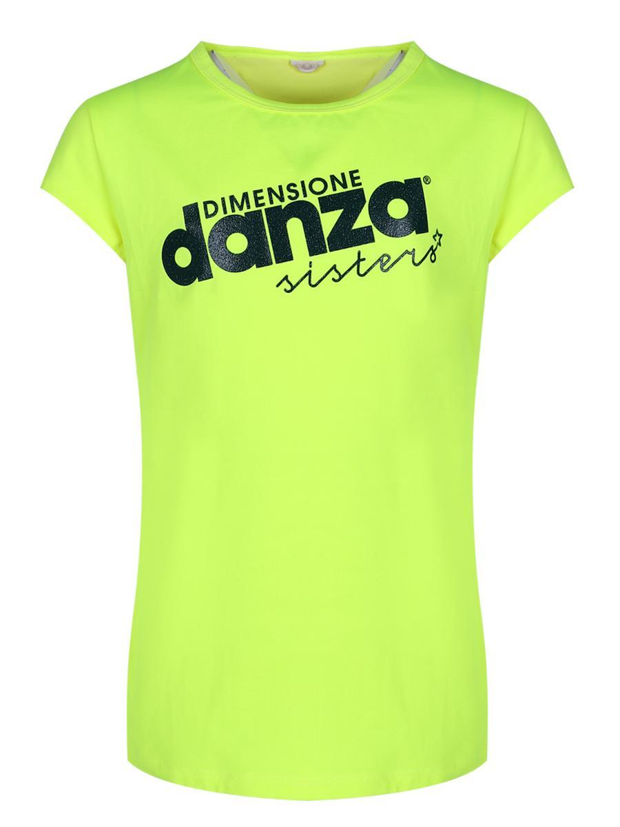 футболка dimensione danza для девочки, зеленая