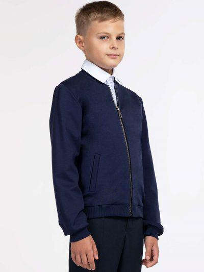 куртка бомбер смена для мальчика, синяя