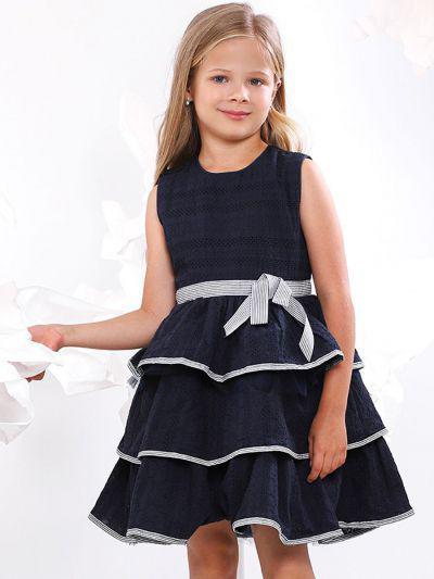 платье y-clu' для девочки, синее