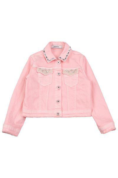 Купить Куртка, To Be Too, Розовый, Хлопок-98%, Эластан-2%, Женский