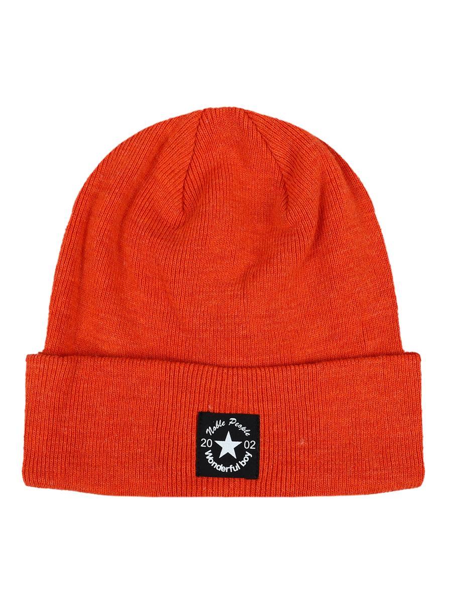 шапка noble people для мальчика, оранжевая