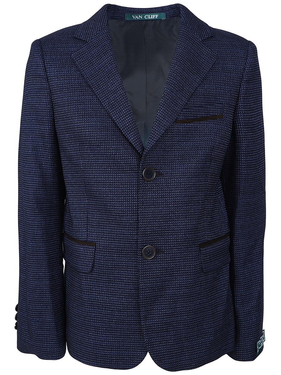 пиджак van cliff для мальчика, синий