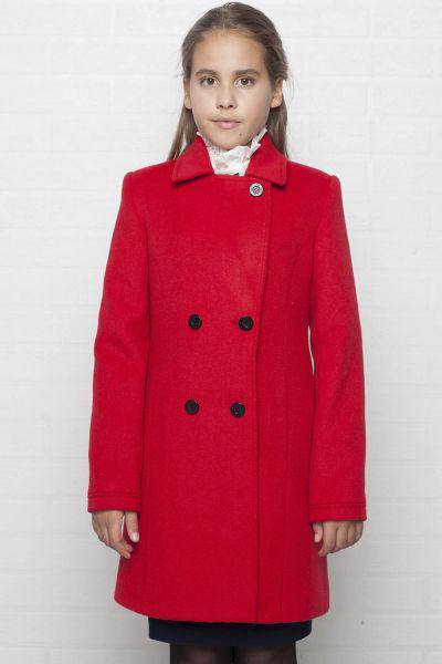 Купить Пальто, Mamma Mila, Красный, Шерсть-60%, Полиэстер-40%, Женский