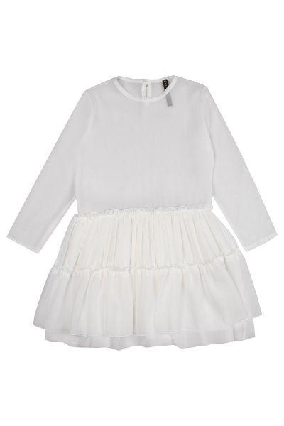 Купить Платье, Manila Grace, Белый, Хлопок-98%, Эластан-2%, Женский