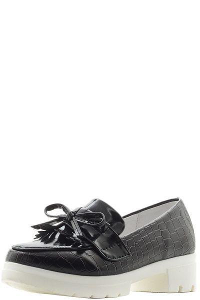 Купить Туфли, Betsy, Черный, Искусственная кожа-100%, Женский