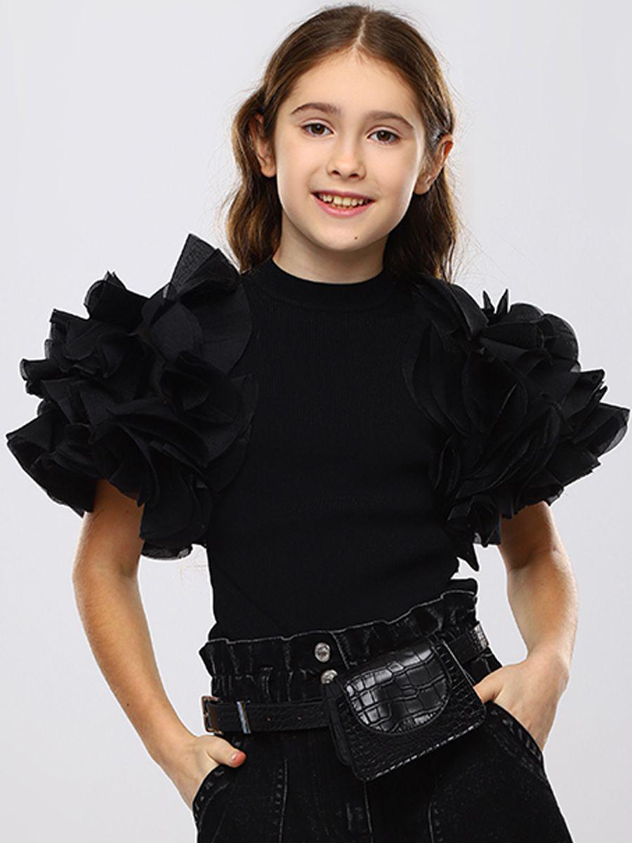 футболка to be too для девочки, черная