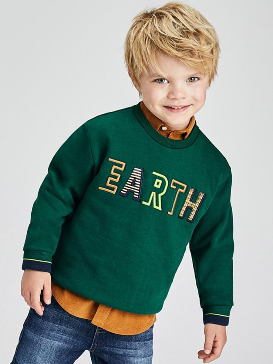 пуловер mayoral для мальчика, зеленый