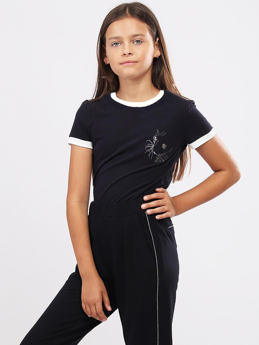 футболка noble people для девочки, синяя