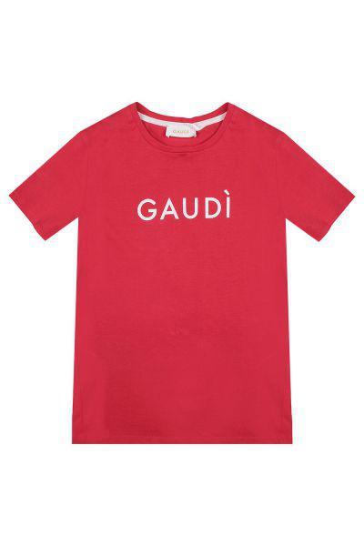 футболка gaudi для мальчика, красная