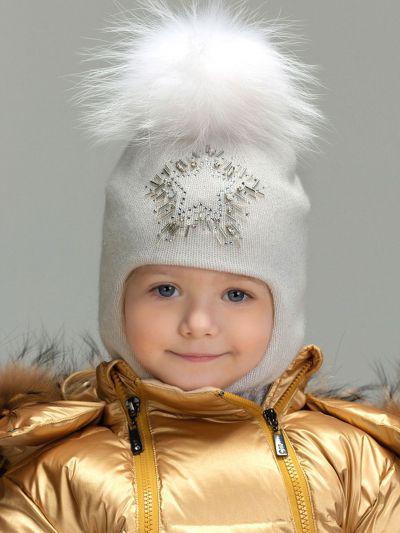 Купить Шлем, Noble People, Белый, Шерсть-43%, Вискоза-28%, Полиамид-14%, Люрекс-8%, Кашемир-7%, Женский