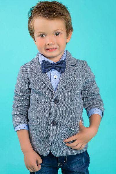 пиджак street gang для мальчика, синий