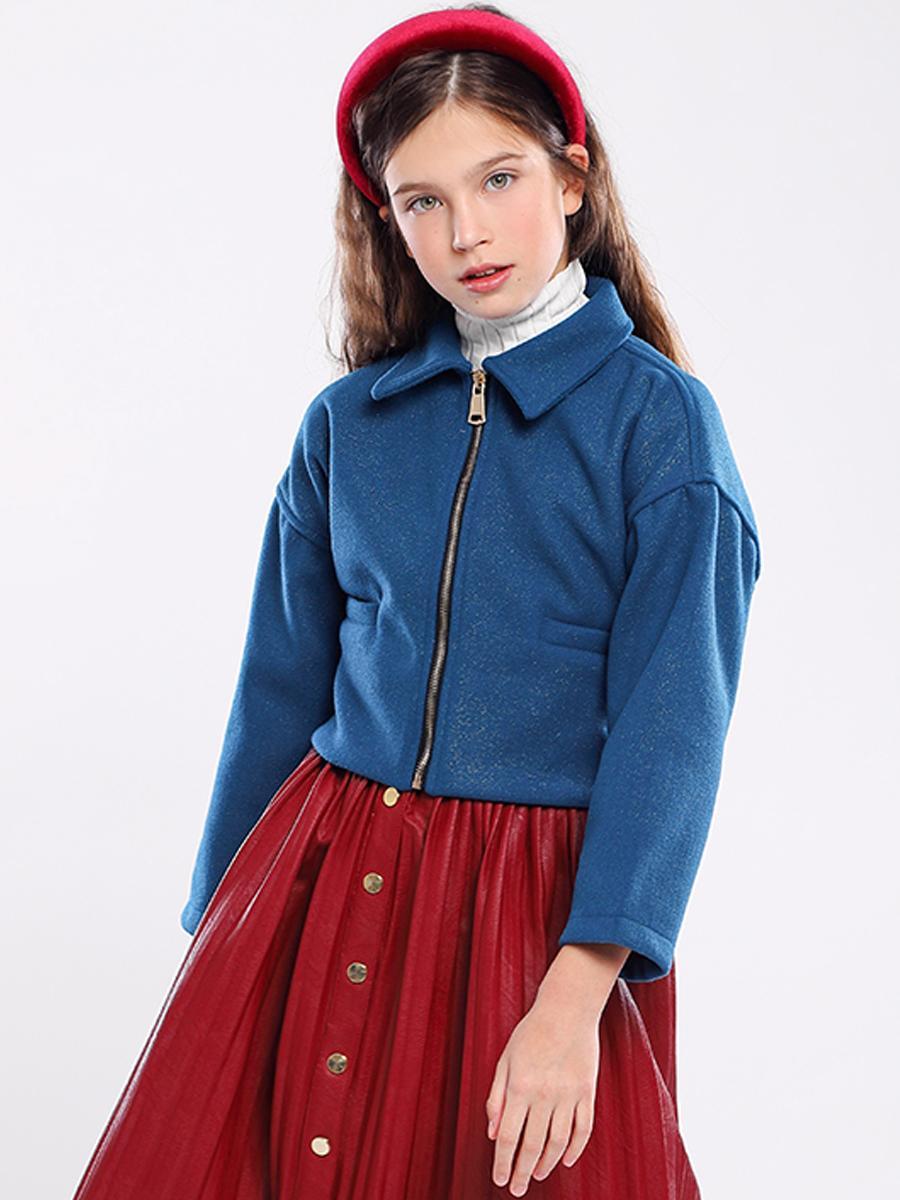 куртка y-clu' для девочки, голубая