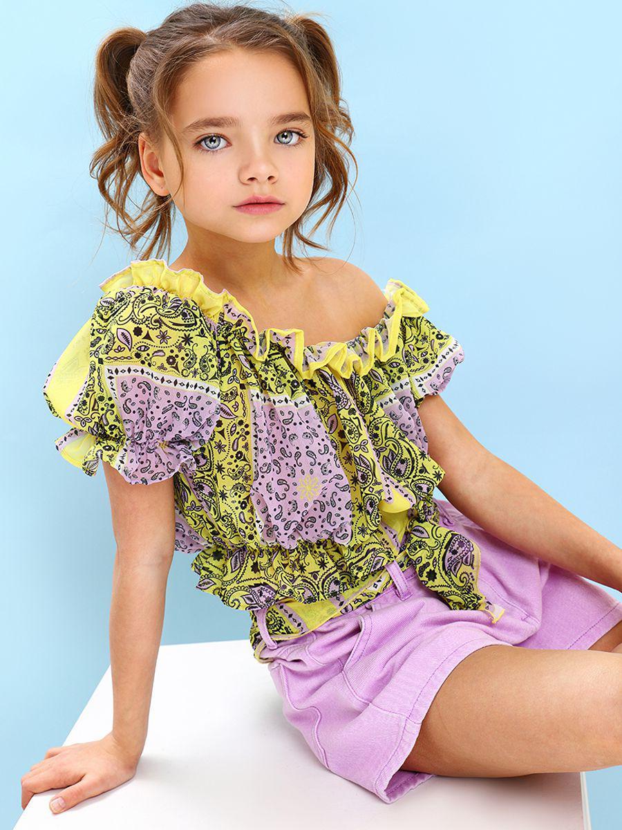 топ gaialuna для девочки, разноцветный