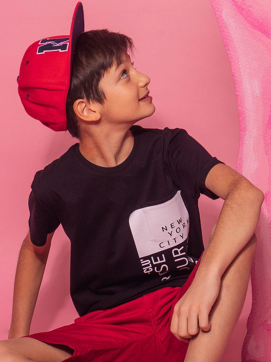 футболка y-clu' для мальчика, черная
