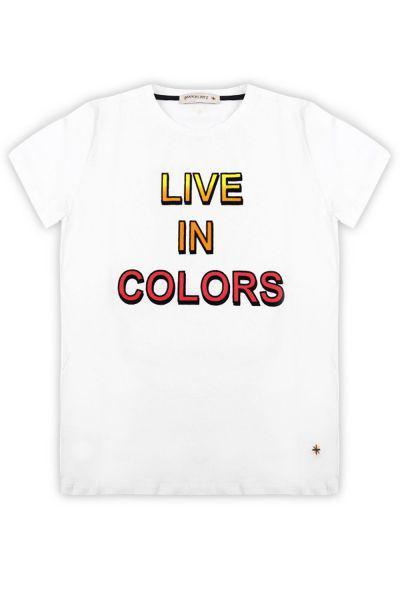 футболка manuel ritz для мальчика, белая