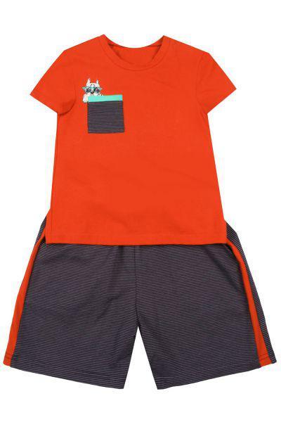 Купить Футболка+шорты, Noble People, Оранжевый, Мужской
