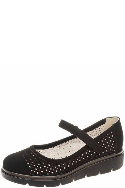 Купить Туфли, Betsy, Черный, Искусственный нубук-100%, Женский