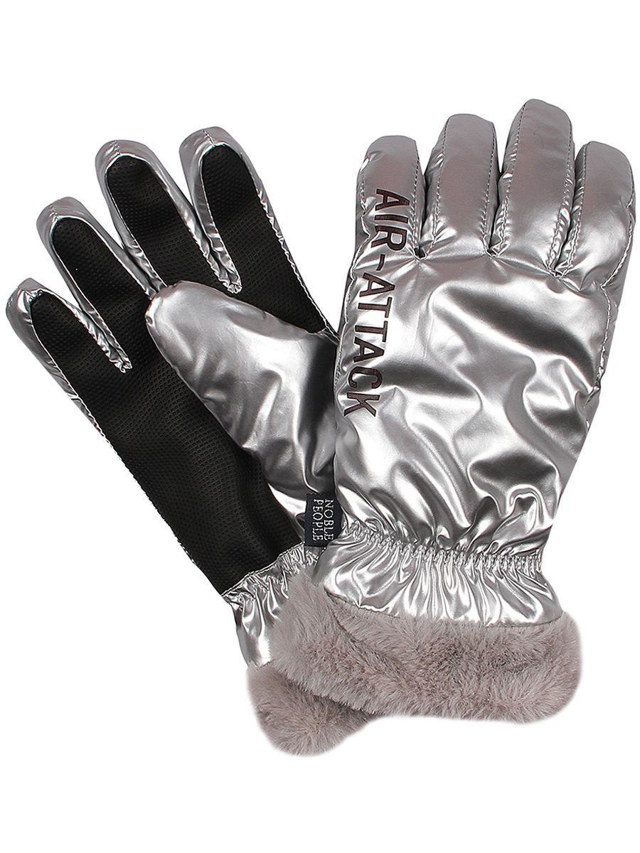 перчатки noble people для девочки, серые