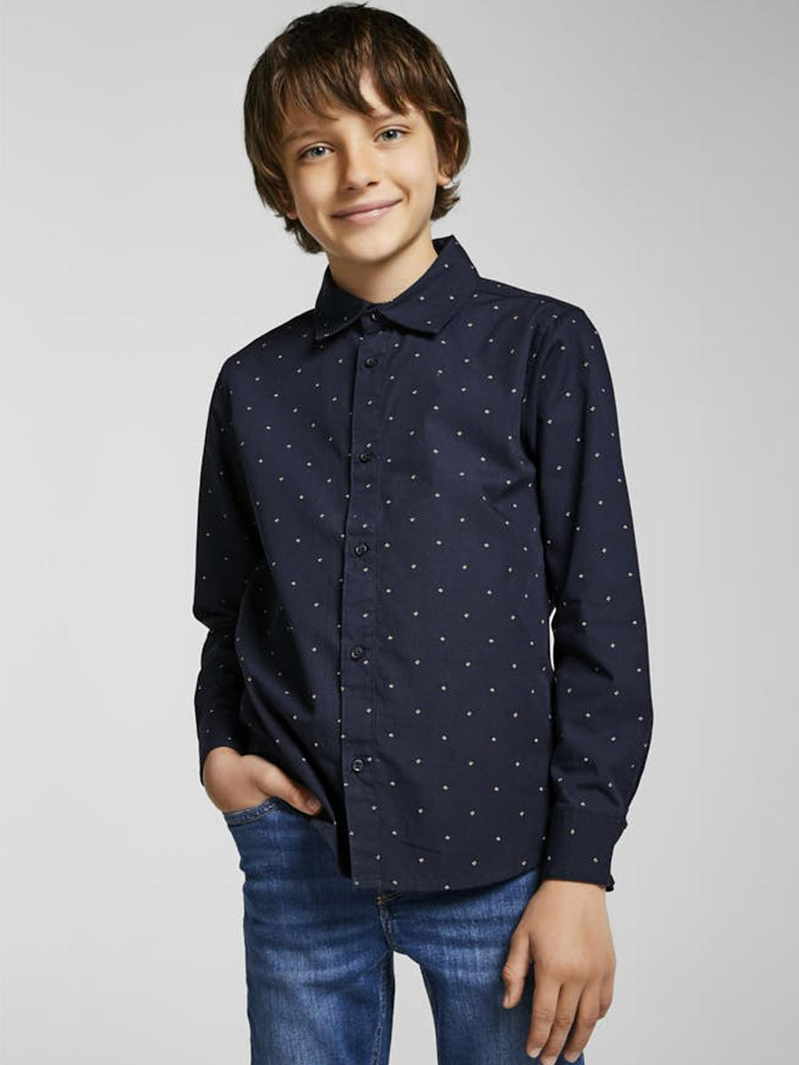 рубашка mayoral для мальчика, синяя