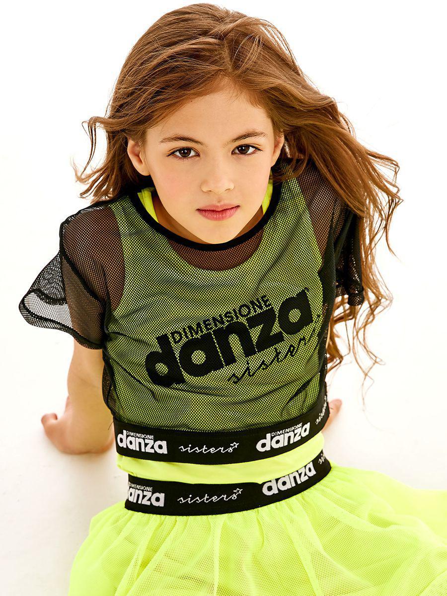 топ dimensione danza для девочки, разноцветный