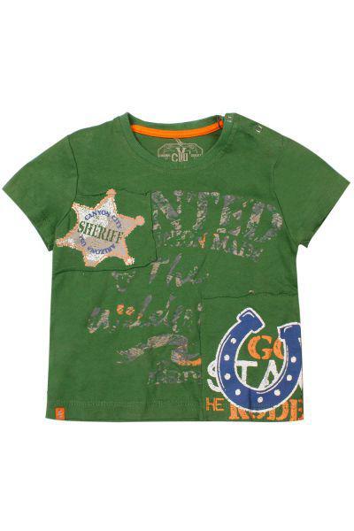 футболка y-clu' для мальчика, зеленая