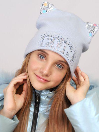 шапка noble people для девочки, голубая