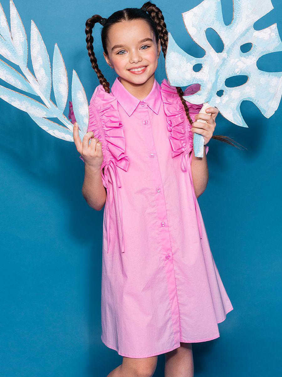 платье-рубашки to be too для девочки, розовое