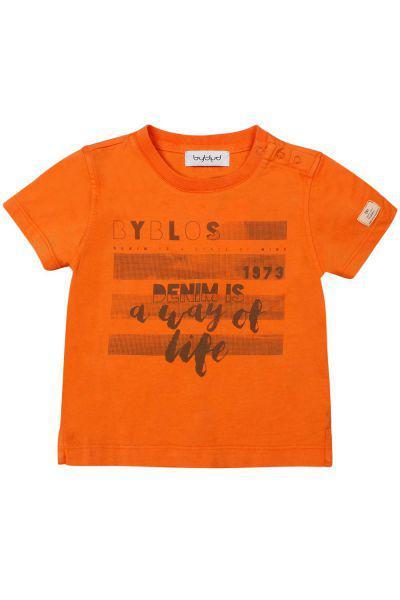 Купить Футболка, Byblos, Оранжевый, Хлопок-100%, Мужской
