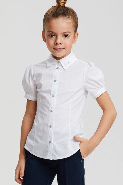 Купить Блуза, Silver Spoon, Белый, Хлопок-97%, Эластан-3%, Женский