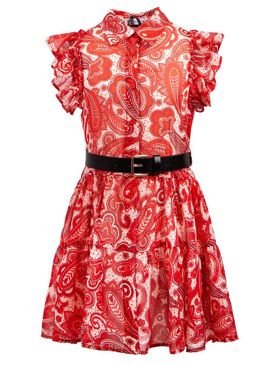 платье to be too для девочки, красное