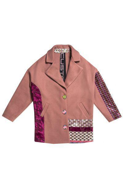 Купить Пальто, Custo Barcelona, Розовый, Полиэстер-100%, Женский