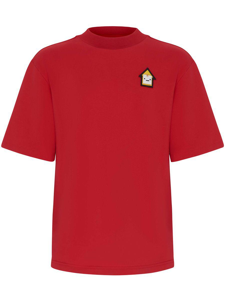 футболка смена для мальчика, красная