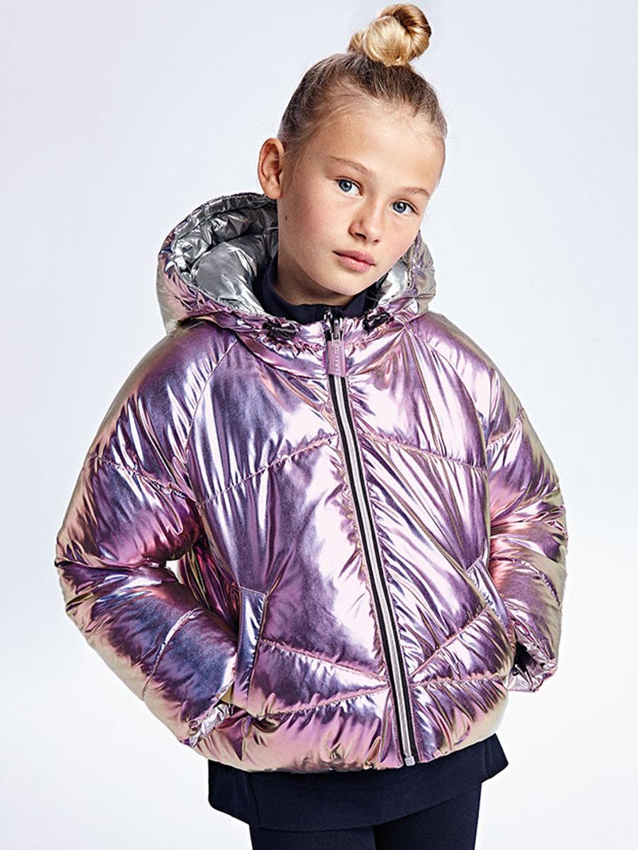 куртка mayoral для девочки, фиолетовая