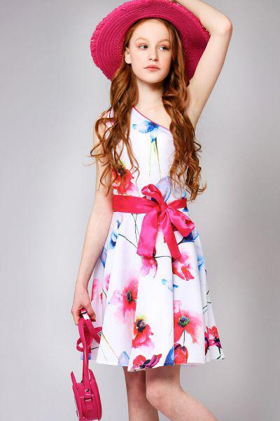 Купить Платье, Y-clu', Разноцветный, Полиэстер-80%, Эластан-20%, Женский