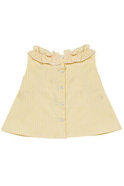 блузка gaialuna для девочки, желтая