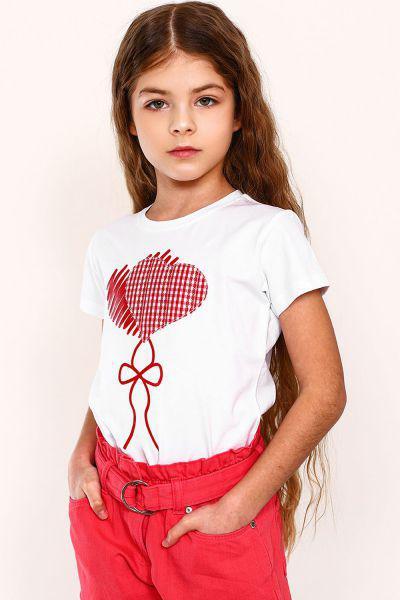 футболка gaialuna для девочки, белая