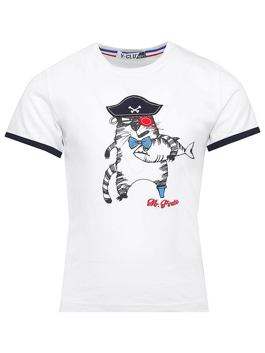 футболка y-clu' для мальчика, белая