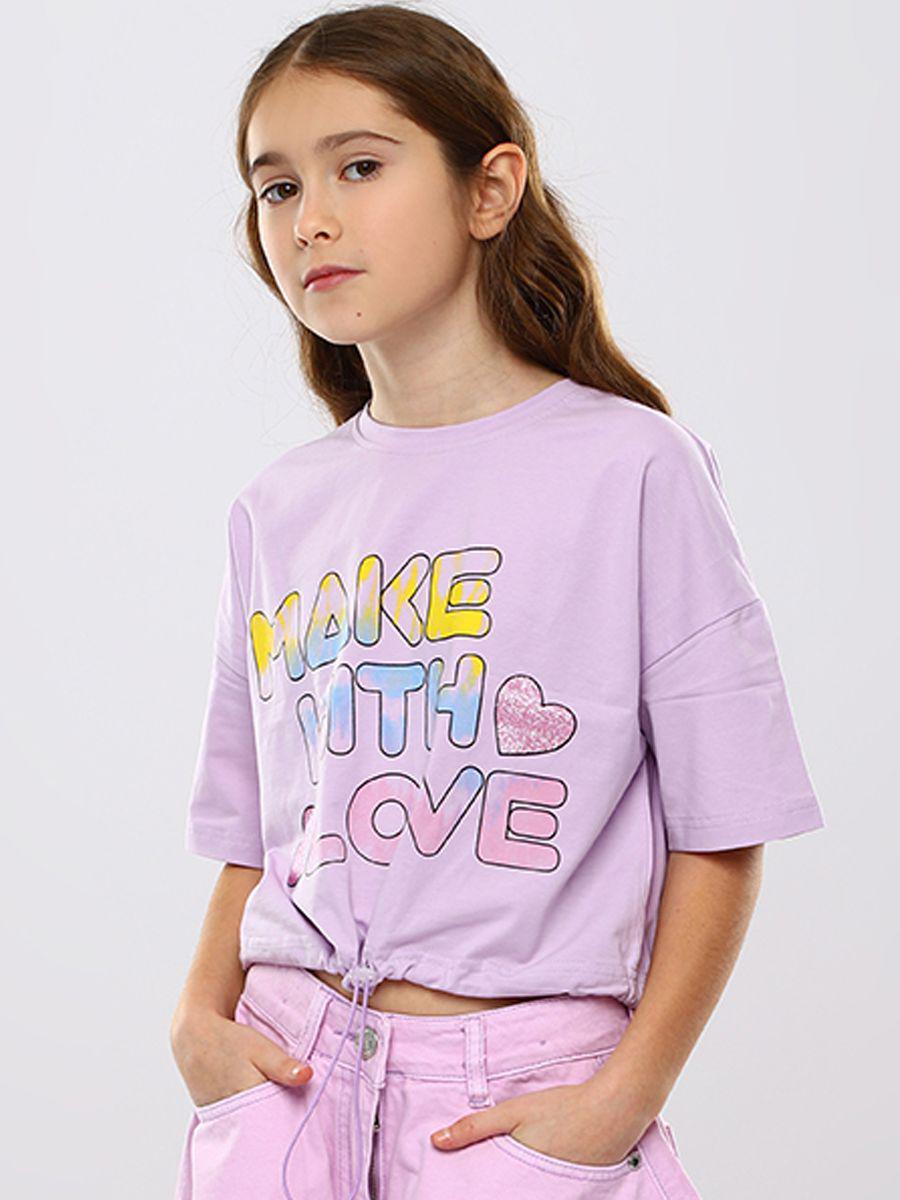 футболка to be too для девочки, фиолетовая