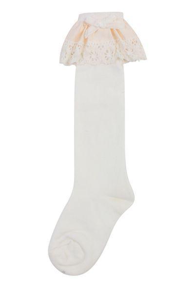 Гольфы детские для девочки D45 белый Dearchild