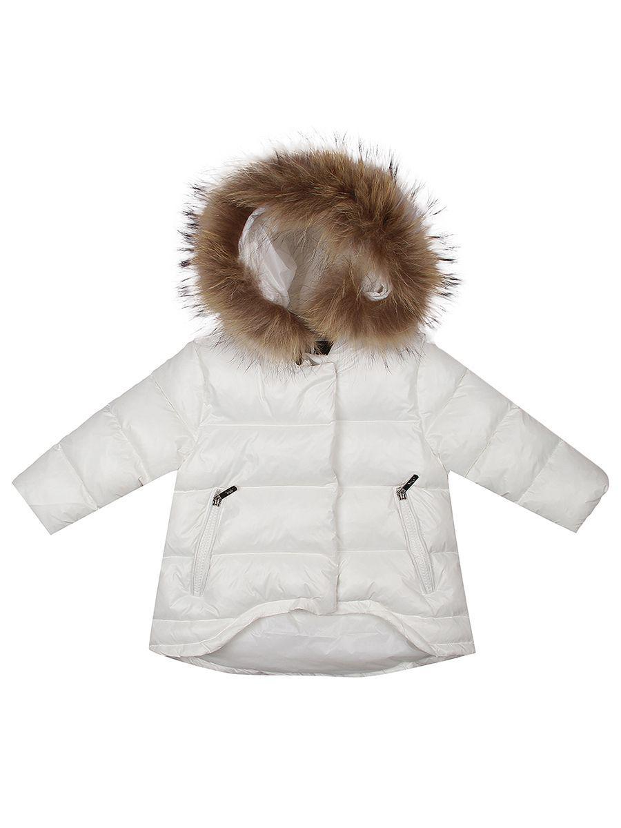 куртка y-clu' для девочки, белая