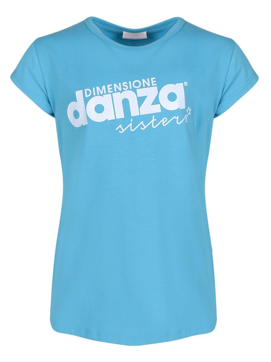 футболка dimensione danza для девочки, синяя