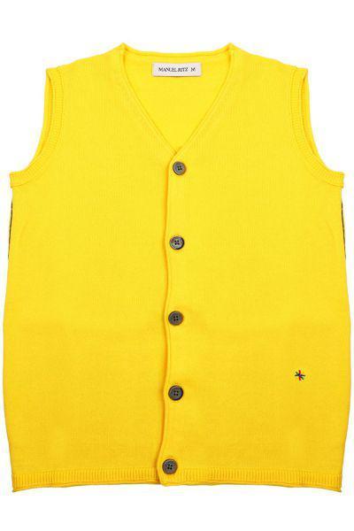 жилет manuel ritz для мальчика, желтый