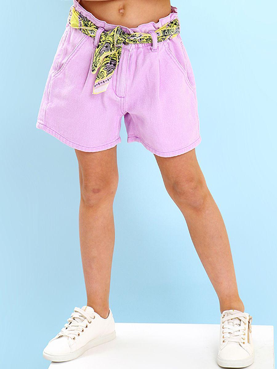 шорты gaialuna для девочки, фиолетовые