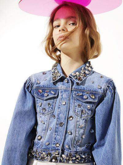 Купить Куртка, To Be Too, Голубой, Хлопок-100%, Женский