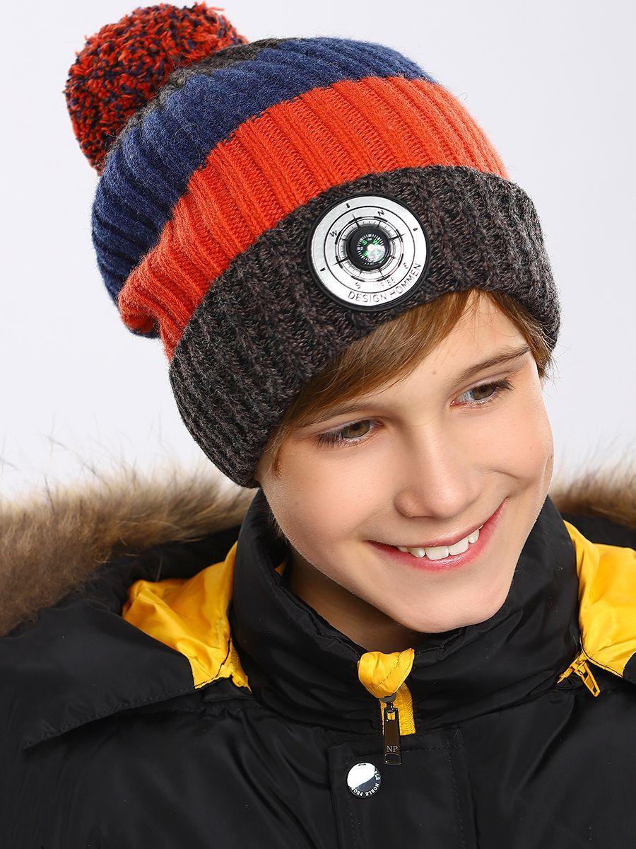 шапка noble people для мальчика, коричневая