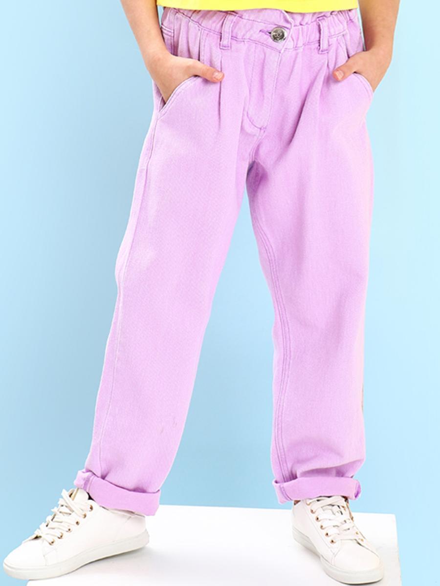 джинсы gaialuna для девочки, фиолетовые