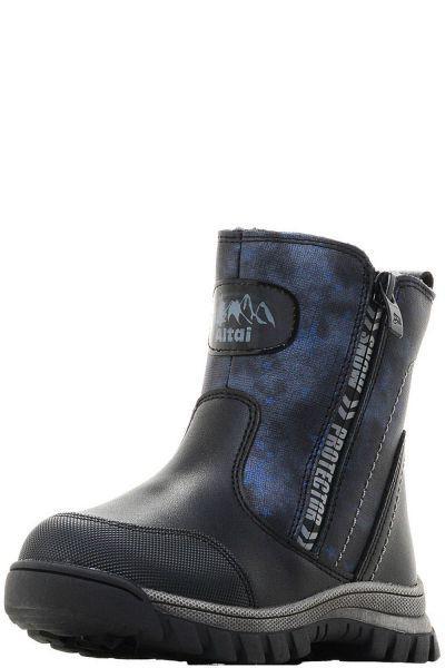 Купить Ботинки, Kapika, Черный, Кожа натуральная-100%, Мужской