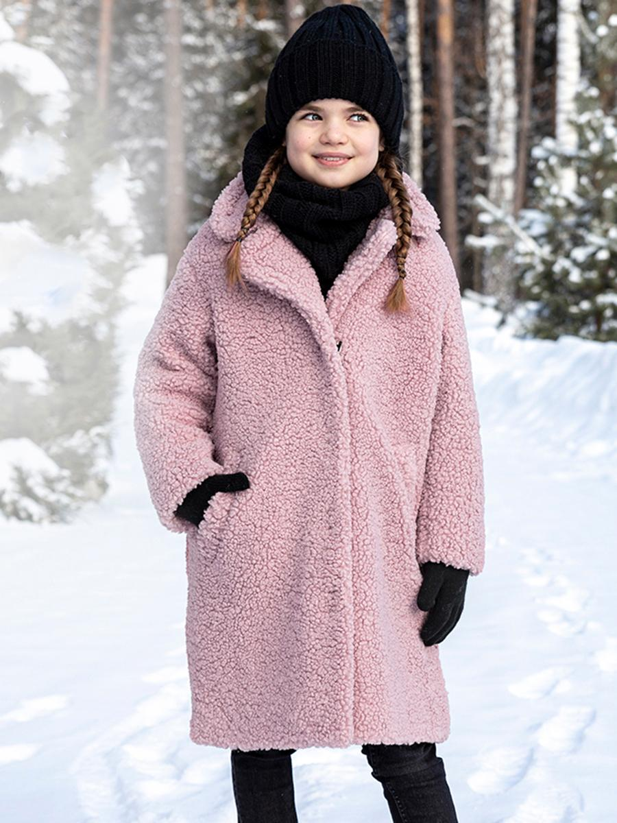 пальто nikastyle для девочки, розовое