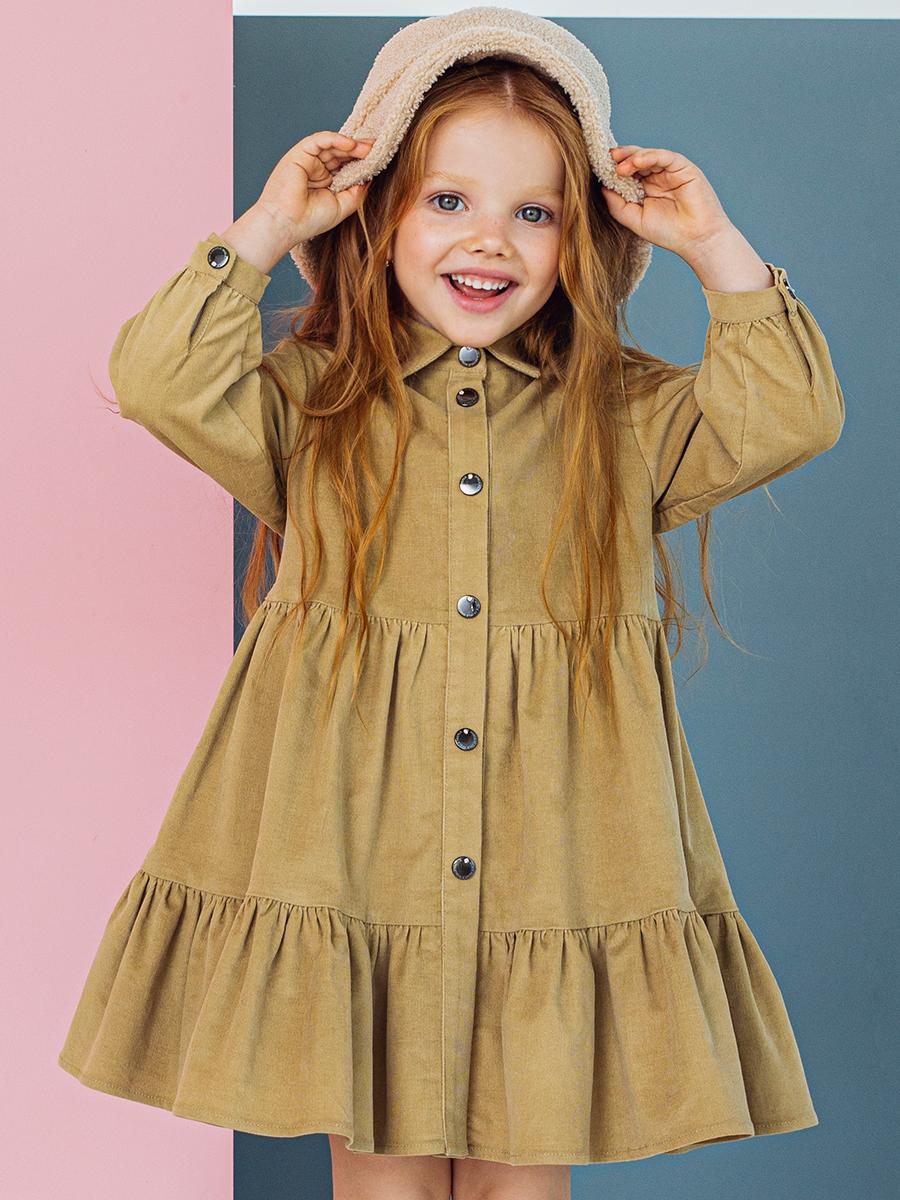 платье noble people для девочки, бежевое