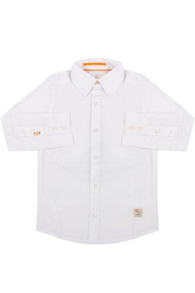 Купить Рубашка, Gaudi, Белый, Хлопок-97%, Эластан-3%, Мужской